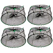 """4-Pack of KUFA Sports Tower Style Stainless Steel Prawn trap (Trap Size: Ø30""""xØ20""""x12""""; Stretched Mesh size: 1-3/4"""") CT77 x 4K"""