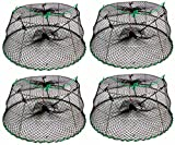 4-Pack of KUFA Sports Tower Style Stainless Steel Prawn trap (Trap Size: Ø30''xØ20''x12''; Stretched Mesh size: 1-3/4'') CT77 x 4K