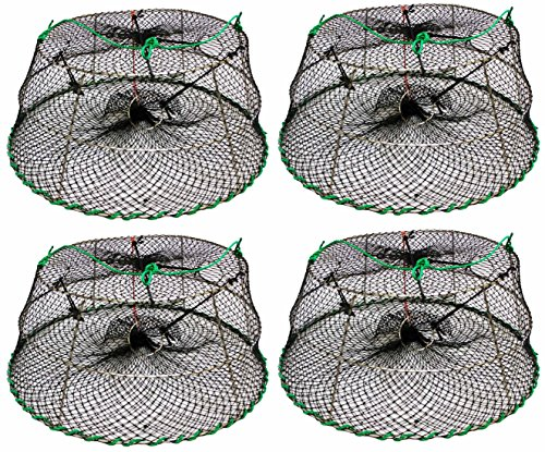 4-Pack of KUFA Sports Tower Style Stainless Steel Prawn trap (Trap Size: Ø30''xØ20''x12''; Stretched Mesh size: 1-1/8'') CT76x4 by KUFA
