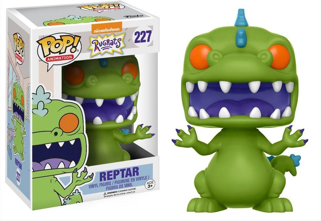 #227 // 13981 - B Funko Reptar: Nickelodeon Rugrats x POP Animation Vinyl Figure /& 1 POP Compatible PET Plastic Graphical Protector Bundle