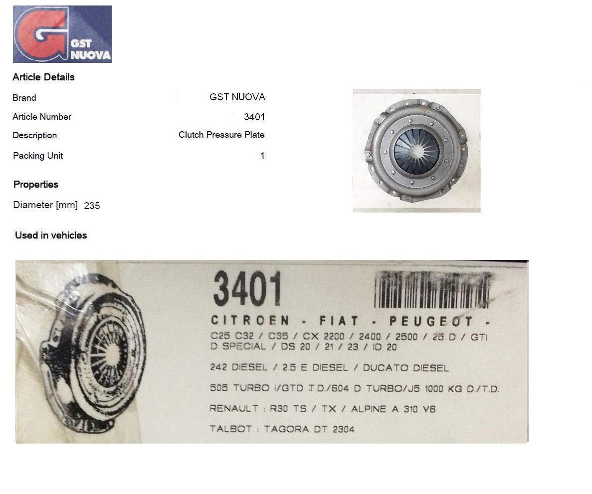 GST 3401 Placa de presion del embrague: Amazon.es: Coche y moto