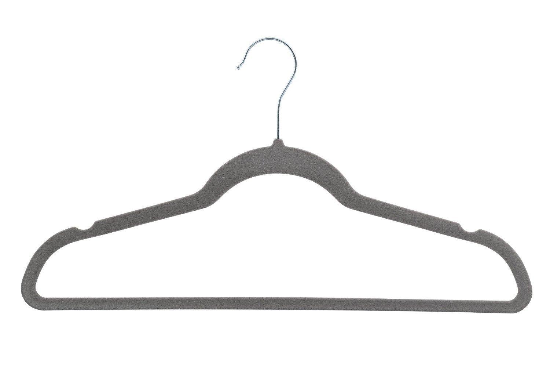 Zen Closet 712166769515 Ultra Thin Heavy Duty No Slip Velvet Suit Hangers (50 Pack), Beige ZC011