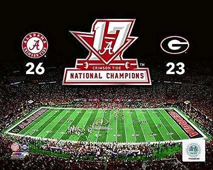 425dc21cdb0 Alabama Crimson Tide 2017 NCAA Football National Champions Photo (8