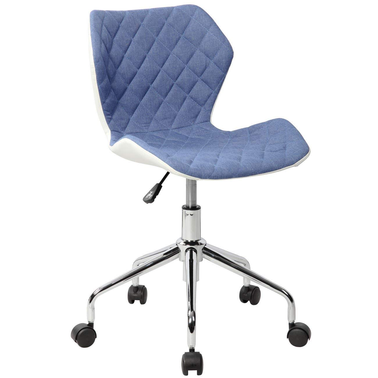Techni Mobili RTA-3236-BL Modern Height Adjustable Office Task Chair, Blue