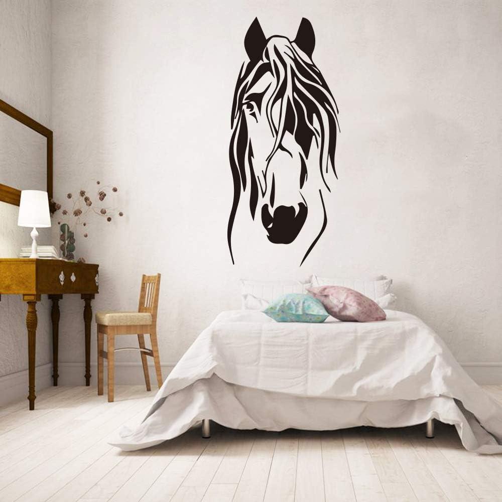 TYLPK Divertido caballo pegatinas de pared pegatinas de vinilo sala de estar dormitorio decoración dormitorio niños habitación decoración animal pegatinas de pared azul 30x66 cm