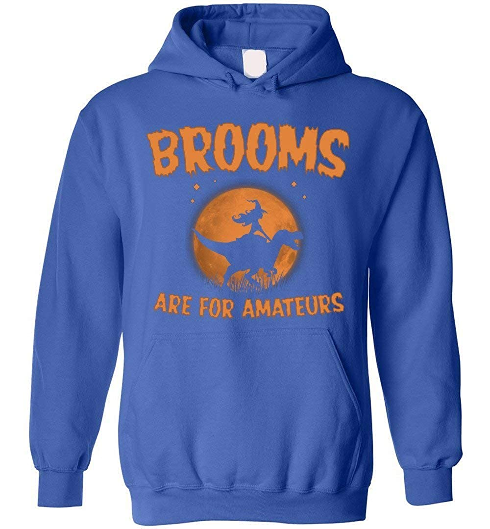 eden tee Brooms are for Amateurs Hoodie Halloween Riding Dinosaur