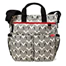 Skip Hop Baby Duo Signature Diaper Bag with Convertible Shoulder-to-Stroller Shuttle Clips and Cushioned Changing Mat, 10 Pockets, Multi Hearts