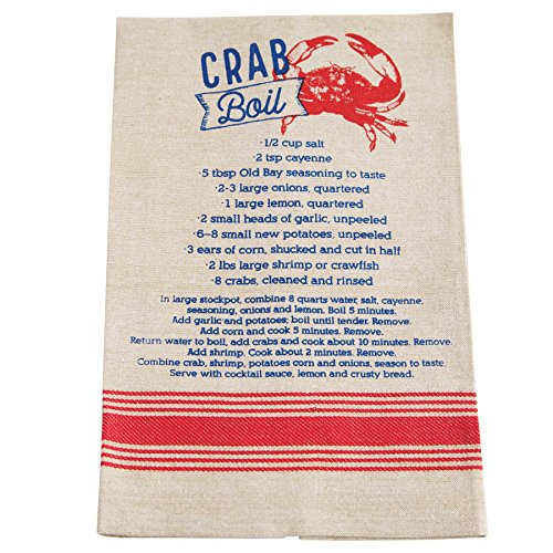 Mud Pie Chambray Crab Boil Recipe Kitchen Towel -