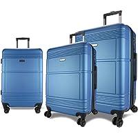 Eaglemate 3pc Luggage Set Suitcase Trolley Carry On Hard Case Soft Lightweight Luggage Set
