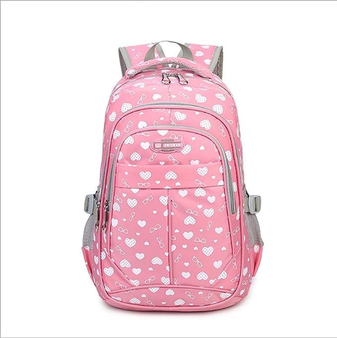 Mochila Bolsa de hombro Mujer Casual Al aire libre Bolsa de viaje Bolsa de estudiante de escuela secundaria Mochila (Color : Pink , Size : 1) : Amazon.es: ...