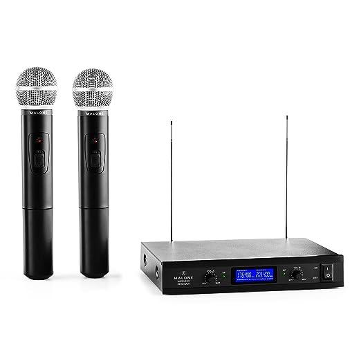 12 opinioni per Malone VHF- 400 Duo Set 1 Radiomicrofoni Wireless Senza Fili per Voce e Canto (2