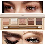 Eve by Eve's Italian Florentine Sunset Eyeshadow Palette Long Lasting Waterproof Makeup Beauty Cosmetics- 85% natural 10 colors - Golden