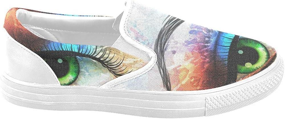 Canvas Shoes D-Story Beautiful Eye Mens Slip-on Fashion Sneaker
