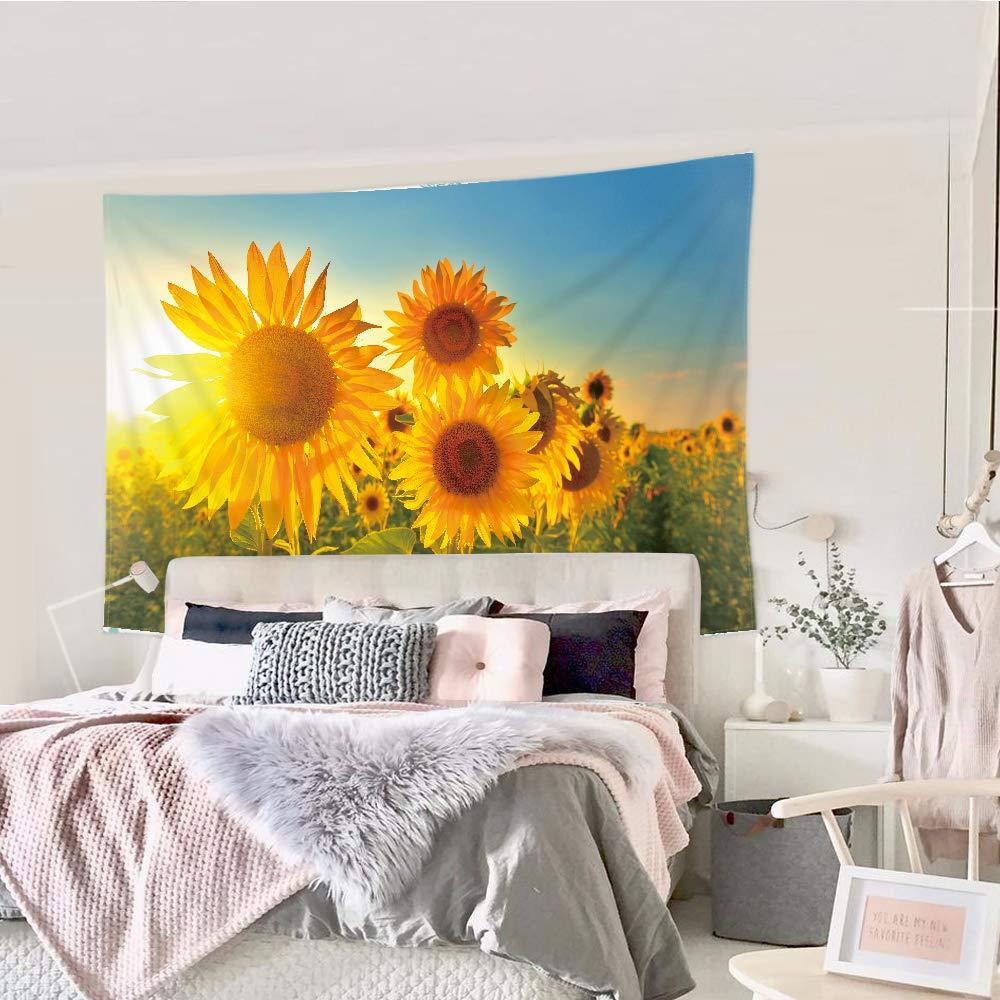Amazon.com: Riyidecor Tapiz de flores de girasol amarillas ...
