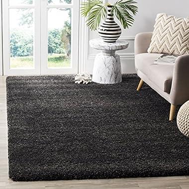 Safavieh Milan Shag Collection SG180-8484 Dark Grey Area Rug (5'1  x 8')