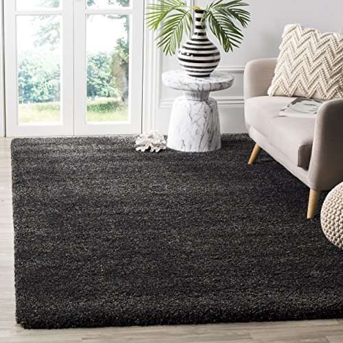 Safavieh Milan Shag Collection SG180-8484 Dark Grey Area Rug (3' x 5') (3x5 Area Grey Rug)