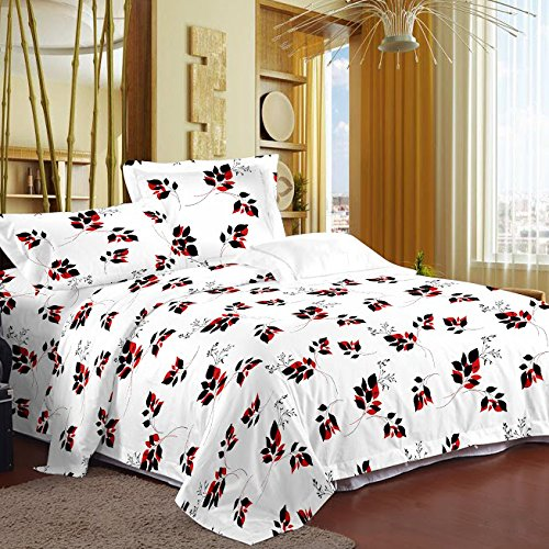 Story@Home Magic Cotton Double Bedsheet with 2 Pillow Covers - White (MG1228)