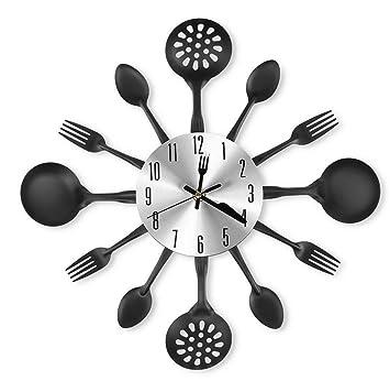 Reloj Pared Moderna Decoración Cocina Forma Cubiertos Tenedor Cuchara , 001: Amazon.es: Deportes y aire libre