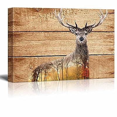 Rustic Autumn Deer - Canvas Art
