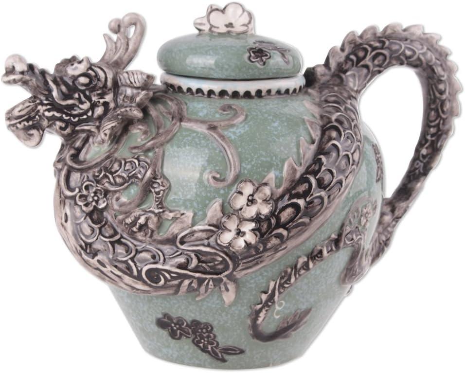 Blue Sky Ceramic Dragon Teapot, 10 x 7 x 7