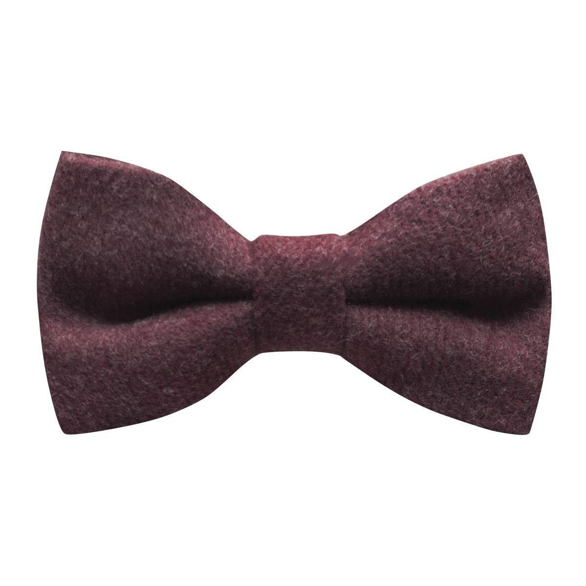 Tweed Luxury Burgundy Donegal Tweed Bow Tie