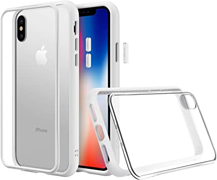 RhinoShield Modular Case Compatible with [iPhone Xs] | Mod NX - Customizable Shock Absorbent Heavy Duty Protective Cover - Shockproof White Bumper ...