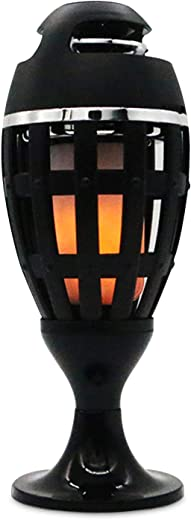 مكبر صوت LED لهب مكبر صوت بلوتوث ستيريو محمول بدون استخدام اليدين سماعة باس لاسلكية للمنزل والحفلات الخارجية USB