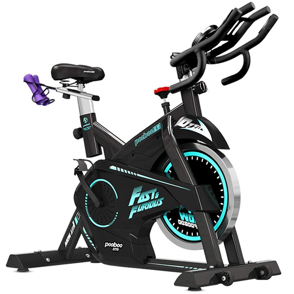 Pooboo Pro Indoor Cycling Bike, Belt Drive Exercise Bike