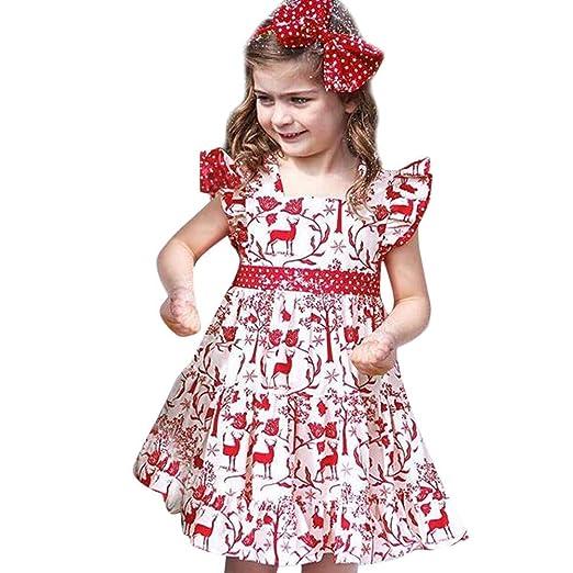 Bambini Ragazza Vestito Abiti da Matrimonio Damigella d Onore Festa  Comunione Cerimonia Natale Carnevale 0eb7f2dadb0