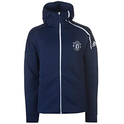 135437276 Image Unavailable. Image not available for. Color  adidas 2018-2019 Man Utd  Zne 3.0 Anthem Jacket (Navy)