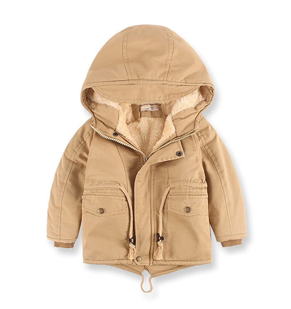 TAIYCYXGAN Baby Boys Hoodie Jacket Kids Zipper Outwear Coat Windbreaker Fleece Lining
