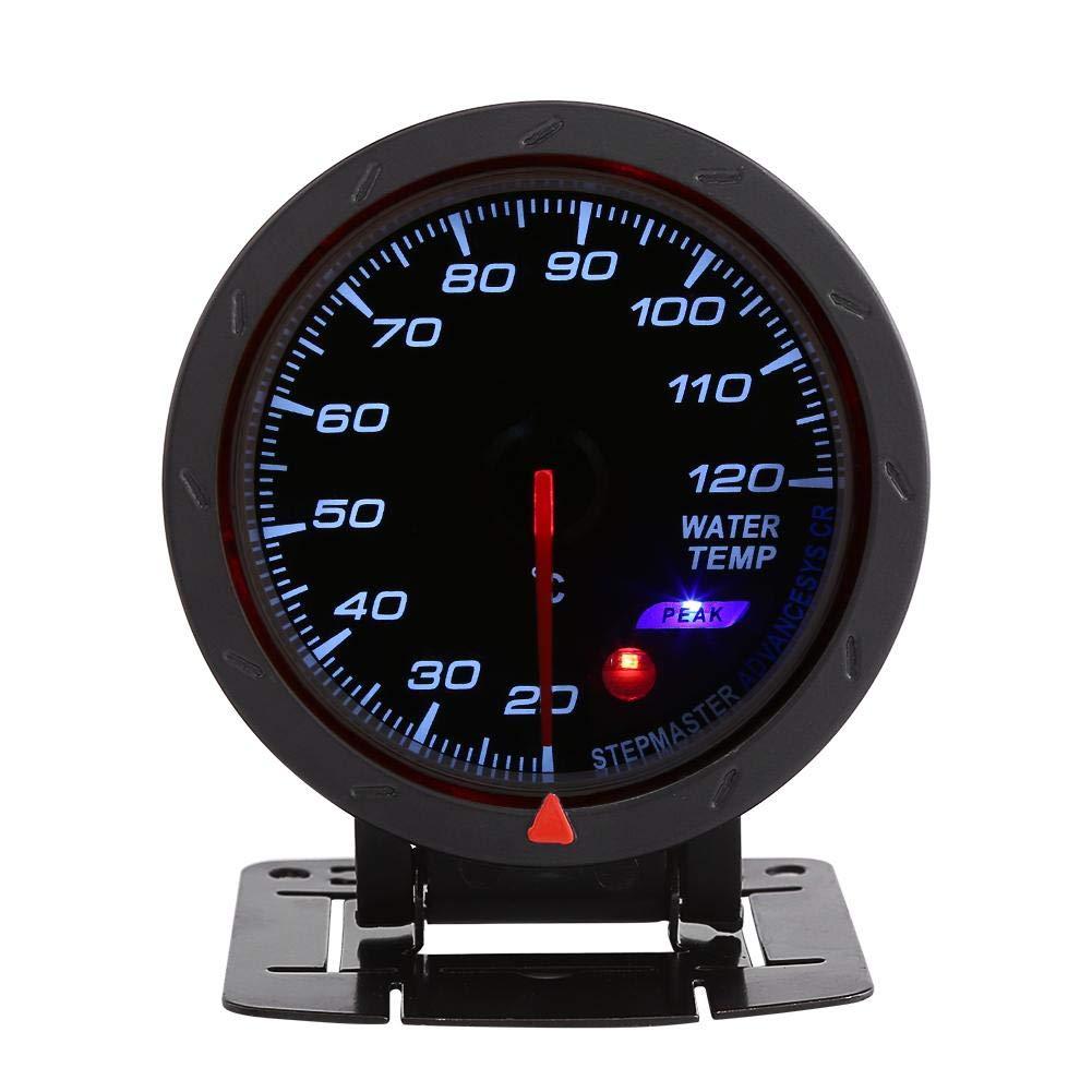 Kit misuratore di temperatura dellacqua universale 12 V Keenso 20-120 ℃ Misuratore di temperatura termometro acqua digitale LED blu 60mm per Auto Car Racer Truck