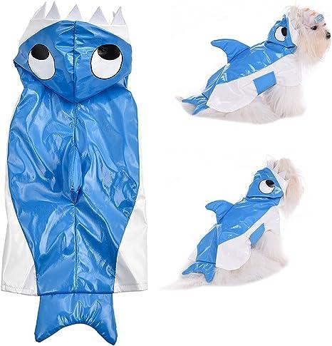 awhao Mascota Perro Chubasquero Estilo Tiburón Disfraz Halloween ...