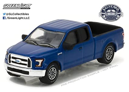 Ford Trucks 2016 >> New 1 64 Greenlight Anniversary Series 5 Collection Blue 2016 Ford F 150 Pickup Ford Trucks 100 Years Diecast Model Car By Greenlight