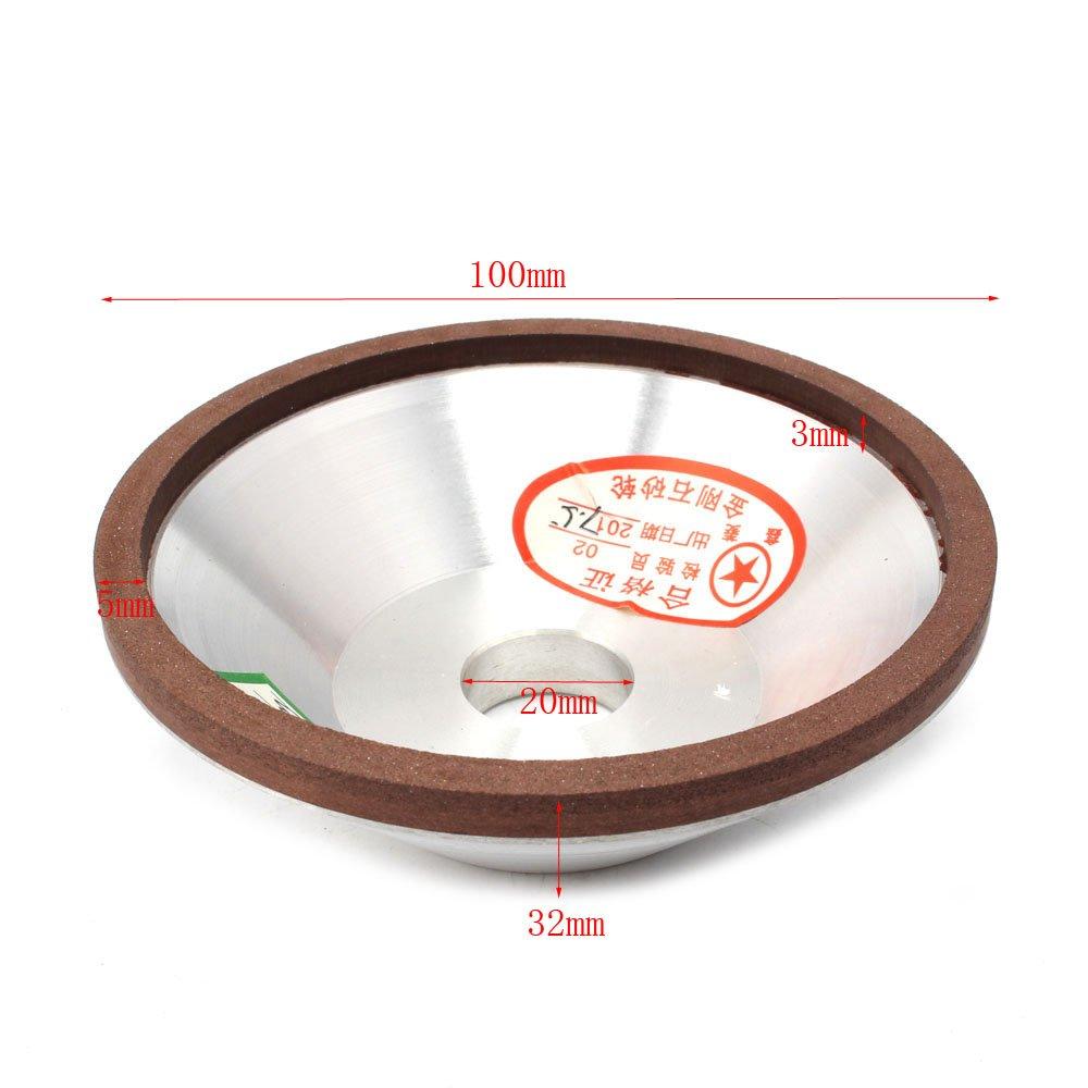 4'inch Resin Bonded Flaring Cup Diamond Grinding Wheel 150 Grit 75% (100x20x5x3mm ) KUOFU