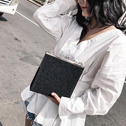 Messenger Chain Glitter Women Black Clip Everpert Bags Evening Sequin Shoulder Party Bags z88SgZ