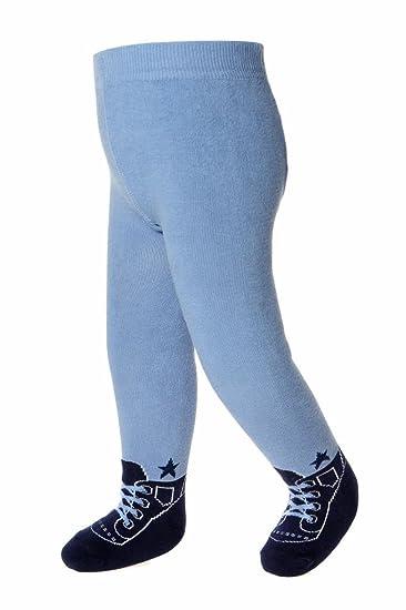d6b74513b3b61 Amazon.com: Baby Infant Boy Tights Leggings - Shoe Look-Soft Combed  Cotton-Anti Slip Soles: Clothing