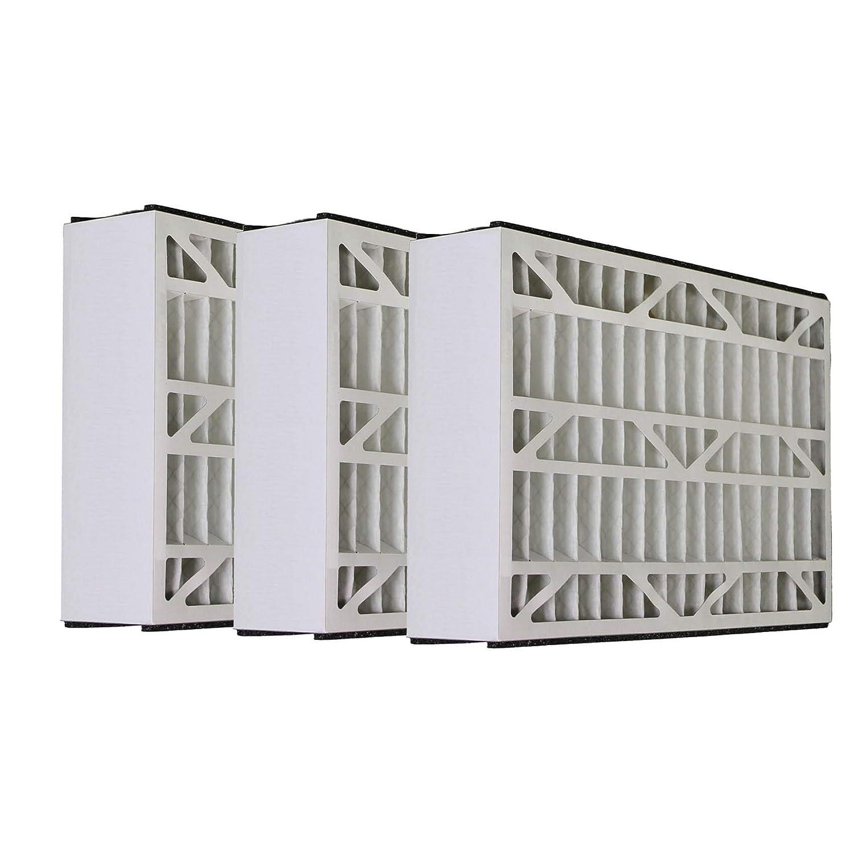 グッドマン16 x 25 x 3 MERV 8 Comparableエアフィルタ – 3パック B00FW0X3XY