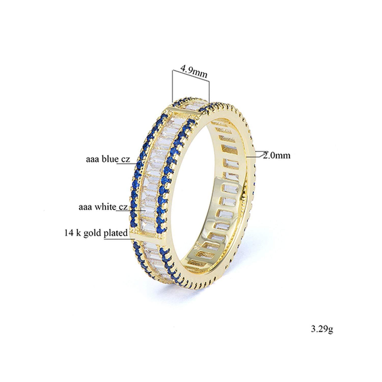 salmoph cadia Cz Rings Women Blue AAA Cubic Zirconia Finger Rings Jewelry Brass Jewellery