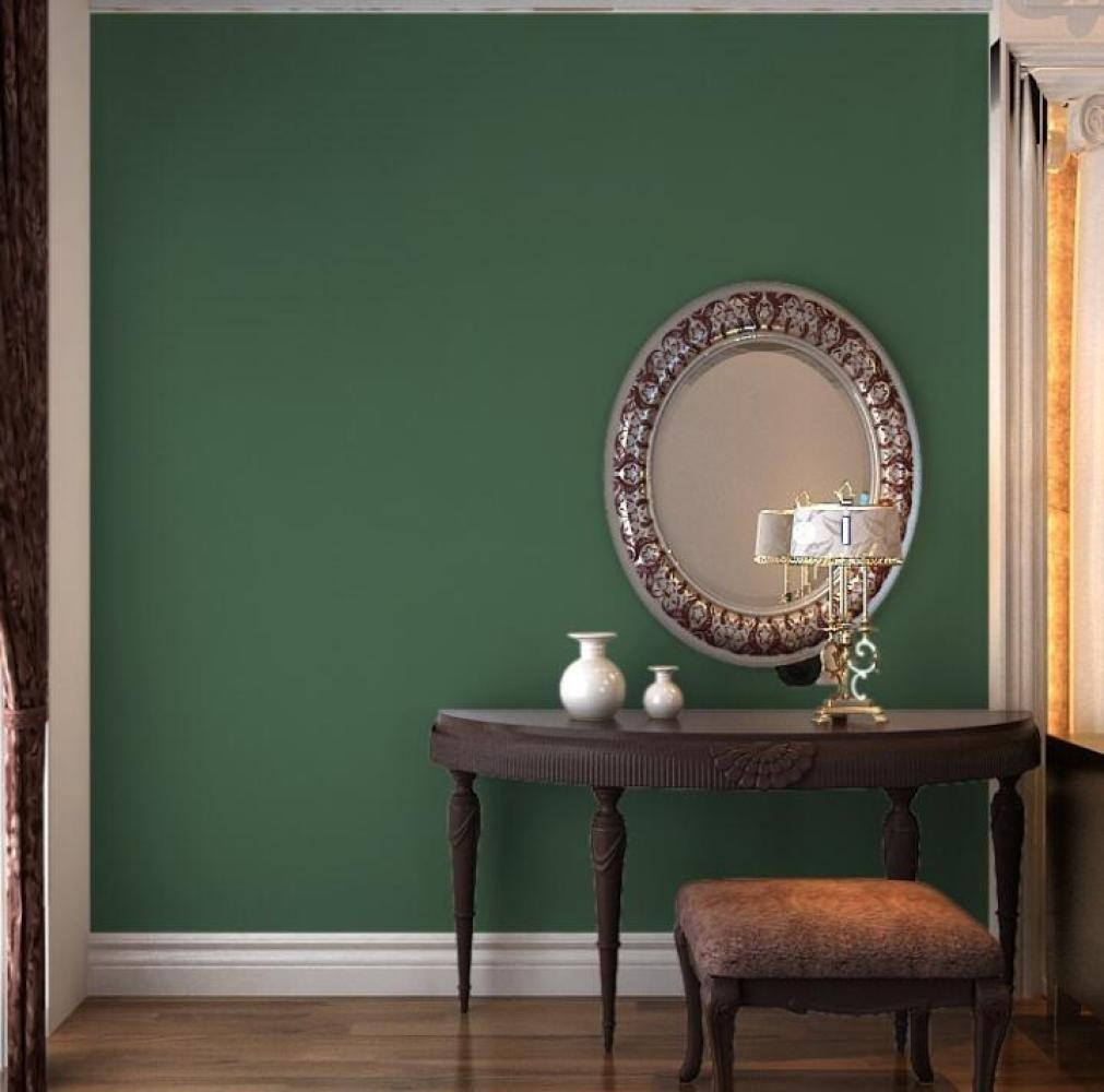 MSNHMU Papel Pintado Retro Sólido Papel Pintado Sala De Estar Dormitorio Papel Pintado No Tejido,Darkgreen-0.53m*10m