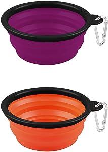 EXTREMEWORLD Collapsible Dog Bowl Pet Food Water Feeding Portable Travel Bowl #CW01