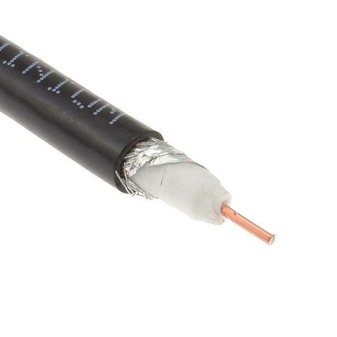 75 Ohms RG6U Coaxial Cielo Sat Ccs Cable Rollo 100 m Cable Negro: Amazon.es: Electrónica