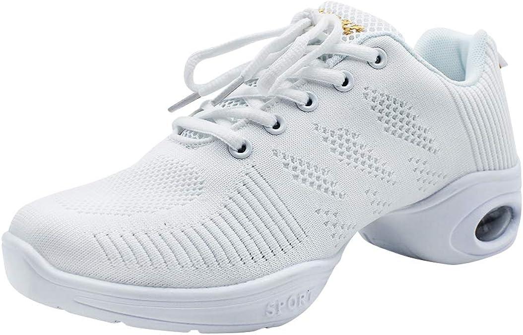 Yudesun Suela Partida Zapatos Aire Libre Deportes Danza Mujer - Zapatillas Negro Informal Jazz Contemporáneo Baile Practicidad Running Sneaker (Los Zapatos Son Más Pequeños): Amazon.es: Zapatos y complementos