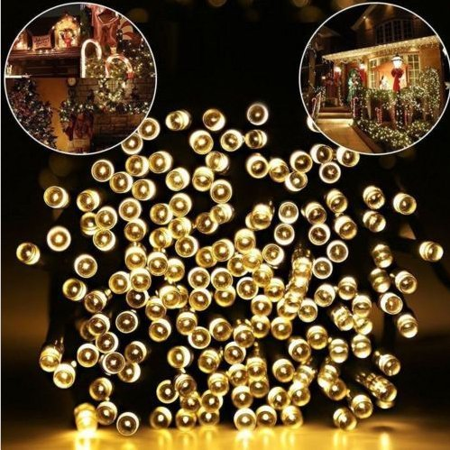 FZSYL Solar String Lights, 200 LED 72ft 8 Modes Waterproof White Outdoor Fairy Garden Solar Powered Lights for Patio, Lawn, Christmas Tree, Indoor, Home, Holiday, Party Decorations (Warm White)