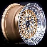 4 bolt gold rims - JNC031 Gold Machined Face 16x8 4x100 4x114.3 ET20 Wheel Rim
