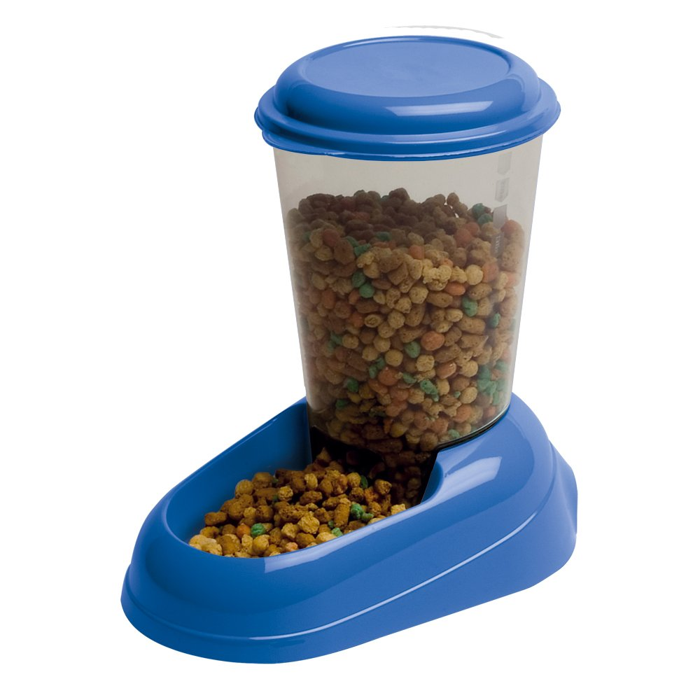 Ferplast Zenith Cat and Dog Food Dispenser, 29.2 x 20.2 x 28.8 cm, 3 Liter, bluee