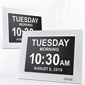 Newest Version Day Clock Extra Large Impaired Vision Digital Battery Backup /&