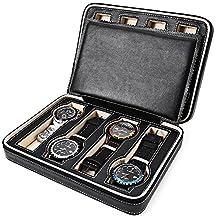 8 Slots Zippered Travel Watch Box Storage Case Organizer New Arrival Wristwatch Display Box