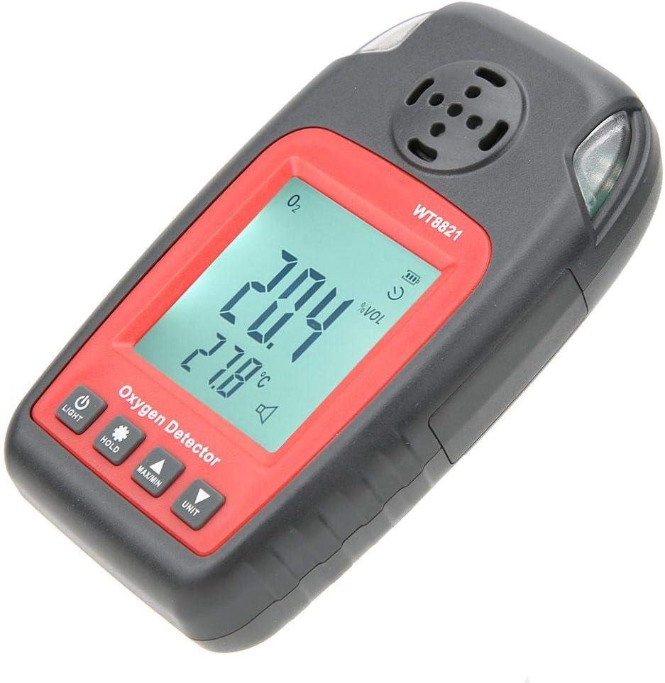 Naroote Hand-Sauerstoffalarmmelder WT8821 Hochpr/äzises tragbares digitales Messger/ät