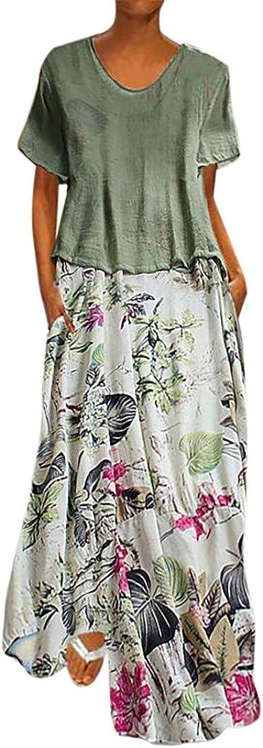 Vestidos Mujer Casual Vestido De Verano Largo Maxi Falda Mujer ...